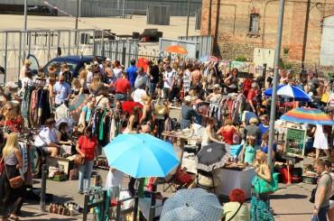 The second flea market at Spīķeri