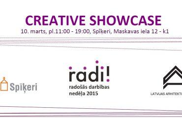"""Spīķeros notiks radošo industriju forums """"Creative Showcase"""""""