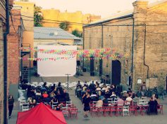 Open-air cinema evenings in Spīķeri Quarter