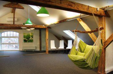 Офисное помещение на мансардном этаже