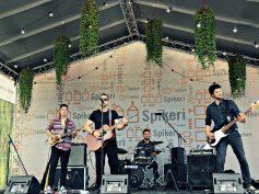 FOTO: Grupas Z-SCARS un LOGO brīvdabas koncertā Spīķeros