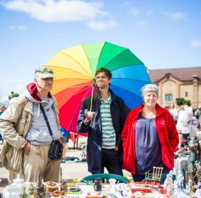 In August in Spikeri were held the first open air Retro fair