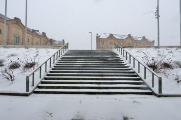FOTO: Snieg!-putenis Spīķeros