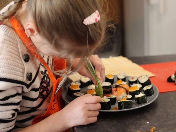 Мастер-класс по суши для детей