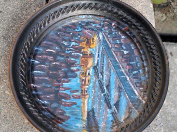 Детский МК. Картина акриловыми красками на керамических тарелках