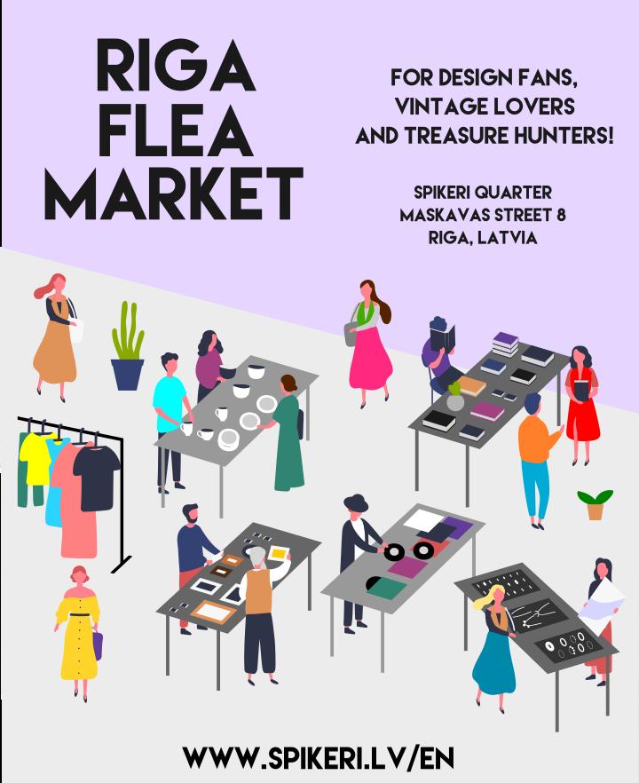 Spikeri flea market Riga Latvia