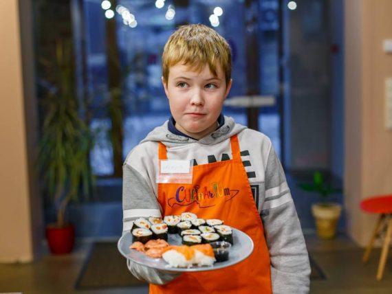 Suši kulinārijas meistarklase bērniem