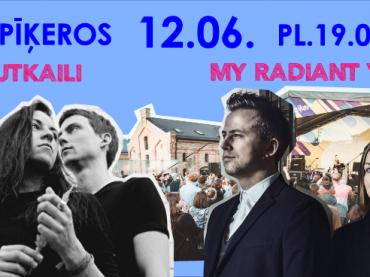 My Radiant You & Kautkaili brīvdabas koncertā Spīķeros