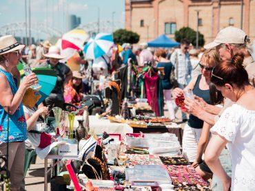 FOTO: Jūnija Rīgas krāmu tirdziņš
