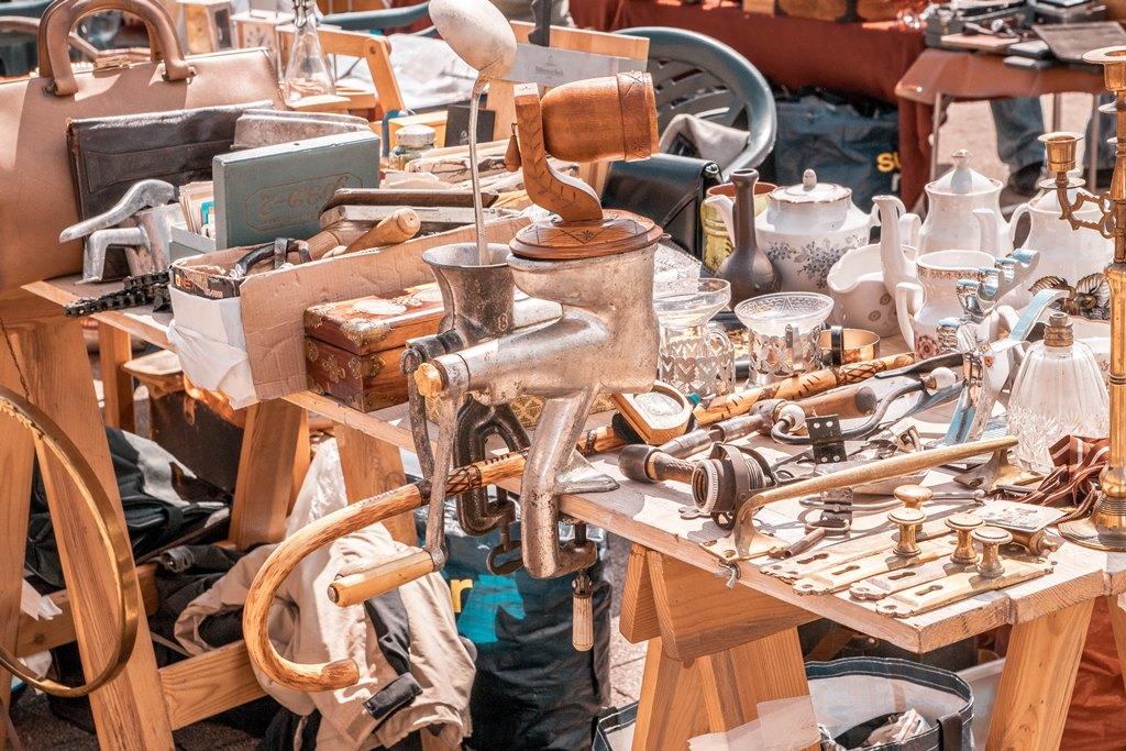 Riga flea market in Spikeri