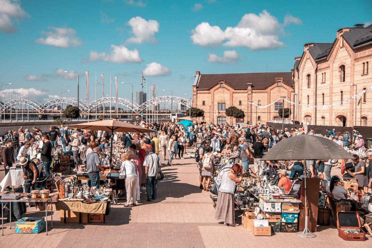 Rīgas krāmu tirgus Spīķeros 2020