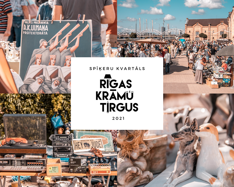 Rīgas krāmu tirgus 2021 Spīķeros