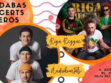 Riga Reggae // Audiokvartāls brīvdabas koncertā Spīķeros